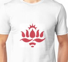 Red Lotus logo, white background Unisex T-Shirt