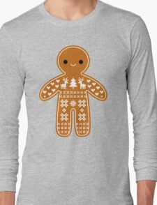 Sweater Pattern Gingerbread Cookie Long Sleeve T-Shirt