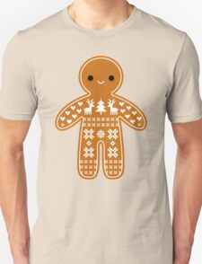 Sweater Pattern Gingerbread Cookie T-Shirt
