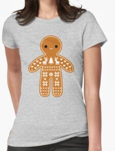 Sweater Pattern Gingerbread Cookie Womens Fitted T-Shirt