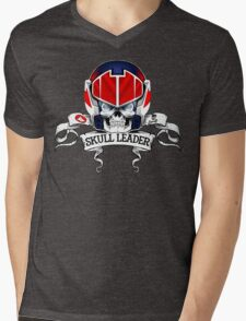 Skull Leader Mens V-Neck T-Shirt