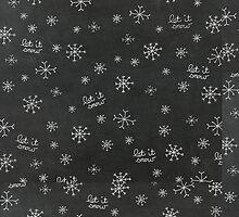Chalkboard Let It Snow by joshbar
