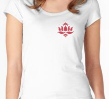 Red Lotus School (Red Lotus logo, small) Women's Fitted Scoop T-Shirt