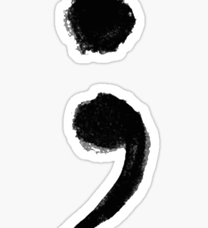 Semi colon Sticker