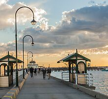 St Kilda pier sunset by Esther Frieda
