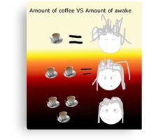 Amount of coffee vs amount of awake Canvas Print