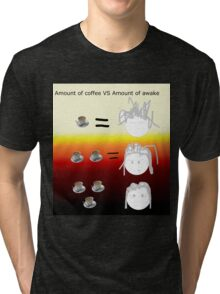 Amount of coffee vs amount of awake Tri-blend T-Shirt