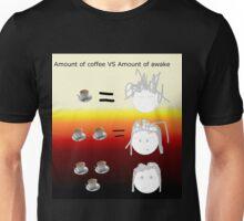 Amount of coffee vs amount of awake Unisex T-Shirt