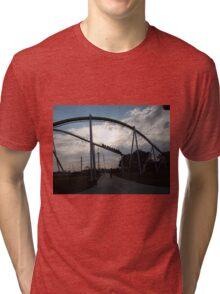 Fury 325 at Carowinds Roller Coaster Tri-blend T-Shirt