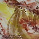 Watercolour: Milking Cow by Marion Chapman