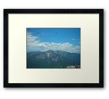 Dragons and Mountains Framed Print
