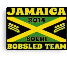 2014 Jamaican Bobsled Team Sochi Olympics T Shirt Canvas Print