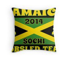 2014 Jamaican Bobsled Team Sochi Olympics T Shirt Throw Pillow