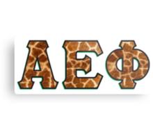 Alpha Epsilon Phi Giraffe Pattern Metal Print