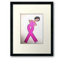 Breast Cancer Awareness Card Framed Print