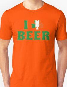 I Love Shamrock Beer St Patricks Day T-Shirt