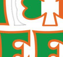 I Love Shamrock Beer St Patricks Day Sticker