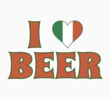 I Love Heart Beer St Patricks Day by xdurango