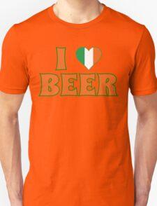 I Love Heart Beer St Patricks Day T-Shirt