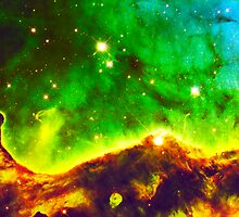 Crazy Colorful Clouds Print & Poster | Fresh Universe by SirDouglasFresh