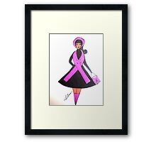 Breast Cancer Awareness Cards Framed Print