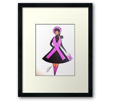 Breast Cancer Awareness Cards Framed Print