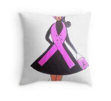 Breast Cancer Awareness Cards Throw Pillow