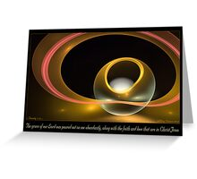 Poured Out Greeting Card