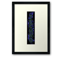 Techno Circuits Framed Print