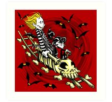 Calvydia and Beetlehobbes (Light Shirts) Art Print