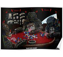 Predators playing poker Poster