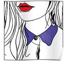 Girl with Purple Collar Poster