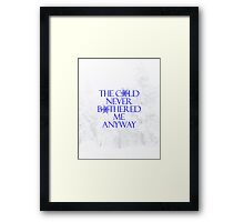 Frozen- The Cold Never Bothered Me Anyway Framed Print