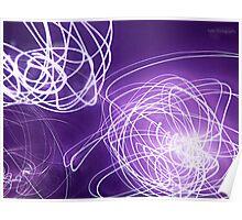 Purple lights Poster