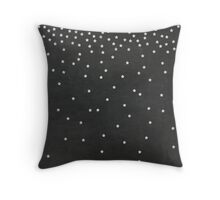 Chalkboard Falling Stars Throw Pillow