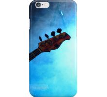 Guitar in blue lights and smoke iPhone Case/Skin