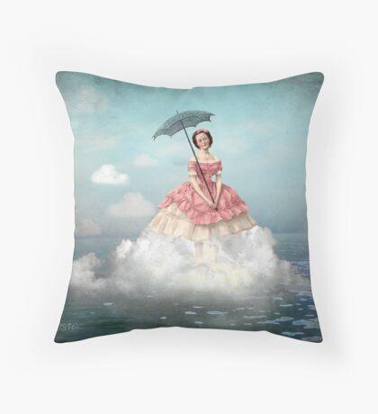 Swimming Cloud Throw Pillow