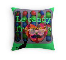 le candy francais Throw Pillow