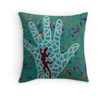 Paint My Hand Throw Pillow