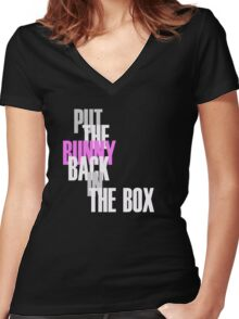 Con Air - Put The Bunny Back In The Box Women's Fitted V-Neck T-Shirt