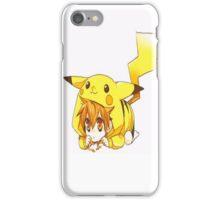Kawai little boy pikachu manga iPhone Case/Skin