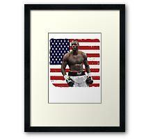 Deontay Wilder American Boxing Heavyweight  Framed Print