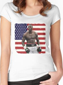 Deontay Wilder American Boxing Heavyweight  Women's Fitted Scoop T-Shirt