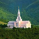 Bountiful Utah Temple - Summer Sunset 30x20 by Ken Fortie