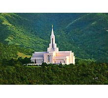 Bountiful Utah Temple - Summer Sunset 30x20 Photographic Print