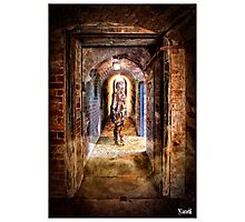 Cyberman in Point Nepean Tunnel Photographic Print