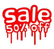 50% off sale reduces graffiti stamp by Style-O-Mat