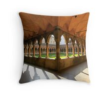 Cloister of St. Francis Throw Pillow