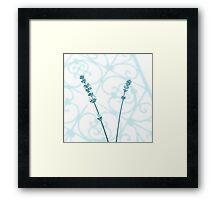 Lavender Stems Framed Print