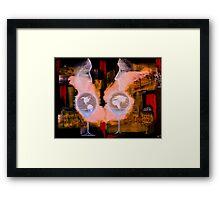 World for Two Framed Print